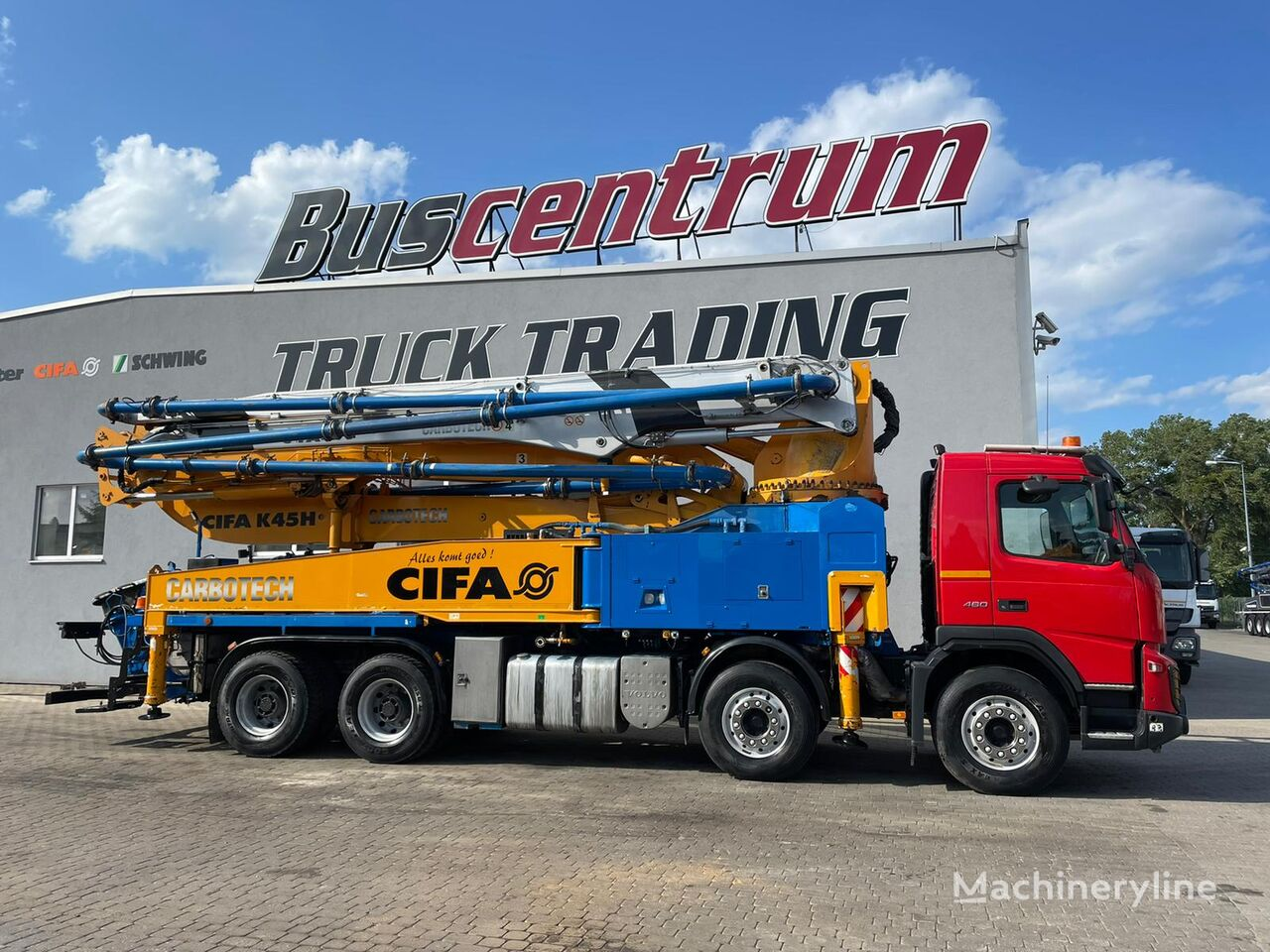 Cifa  on chassis VOLVO FM X 460 8x4 CIFA K 45H Carbotech / German Truck concrete pump