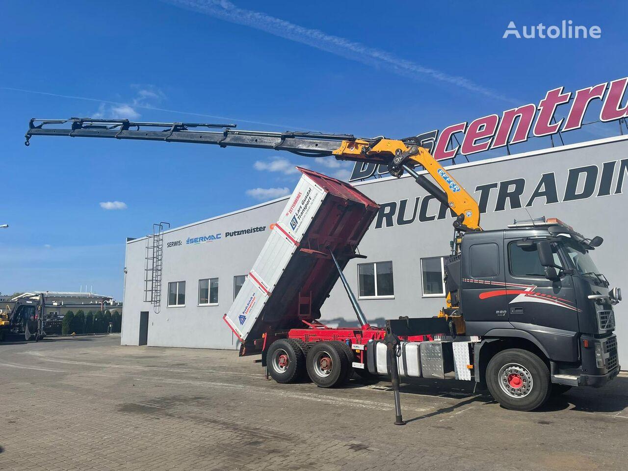 VOLVO FH 520 6x4 Kipper / Crane EFFER 305 dump truck